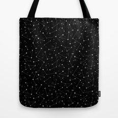Constellations (Black) Tote Bag