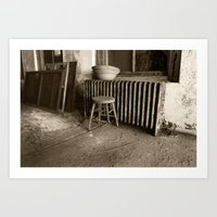 Broken stool on Ellis Island Art Print