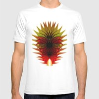 DEEP BURN Mens Fitted Tee White SMALL