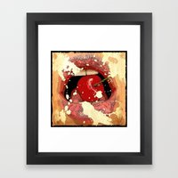 Red Cherry Lips Framed Art Print