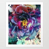 Purple Flower - Boho Art Print
