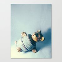 Bear-rel of Laughs Canvas Print