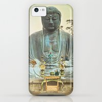 iPhone 5c Cases featuring The Bronze Buddha at Kamakura by Mr. Classic History