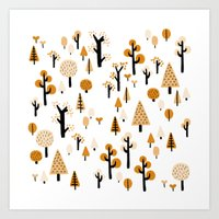 trees in the forest Art Print