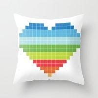Pixelated Heart. Throw Pillow