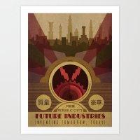 Future Industries Advert… Art Print