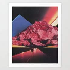 Neon Highway Art Print