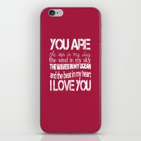 You Are My Valentine iPhone & iPod Skin