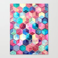 Topaz & Ruby Crystal Hon… Canvas Print