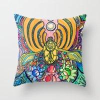 Colorstorm Throw Pillow