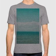 Ocean Mens Fitted Tee Athletic Grey SMALL