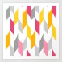 Ikat Stripes Art Print