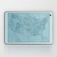 Vintage America in Blue Laptop & iPad Skin