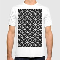 Brushed Circles Inverse Mens Fitted Tee White SMALL