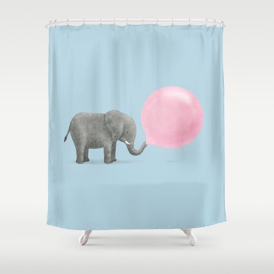 Jumbo Bubble Gum  Shower Curtain