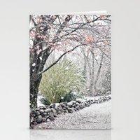 Autumn Snowfall Stationery Cards