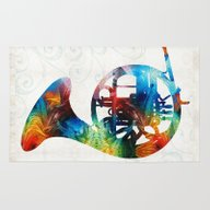 Colorful French Horn - C… Rug