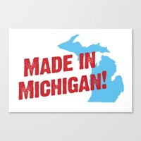 Made in Michigan Canvas Print