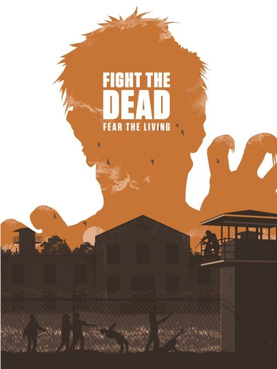The Walking Dead Prison Walkers Art Print