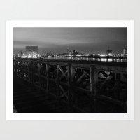 Thames Crossing - Woolwi… Art Print