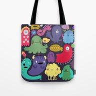 Tote Bag featuring Colorful Creatures by Maria Jose Da Luz