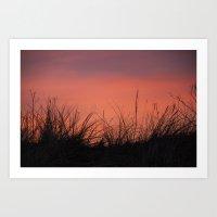 The Orange Sky. Art Print