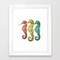 SeaHorses Framed Art Print