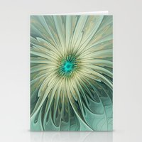 Emotions of a Flower, Abstract Fractal Art Stationery Cards