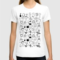 Breakfast Womens Fitted Tee White SMALL