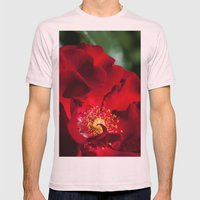 Red Rose Mens Fitted Tee Light Pink SMALL