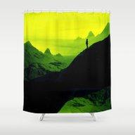 Vibrant Wasteland Shower Curtain