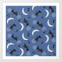 Moonlight Cricket Serena… Art Print