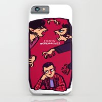 iPhone & iPod Case featuring Teens and Wolves by Blue