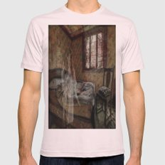 Just A Nightmare Mens Fitted Tee Light Pink SMALL