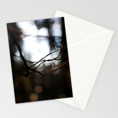 Abstract Wood Stationery Cards