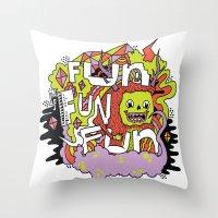 Fun Fun Fun Throw Pillow