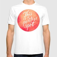 Positive Mens Fitted Tee White SMALL