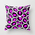 Circular is Sexy  |  Pink, Black & White Throw Pillow