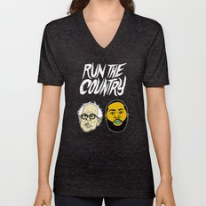 Run The Country Unisex V-Neck