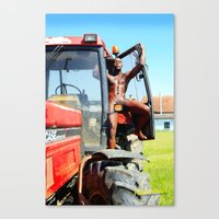 happiness is in the meadow Canvas Print