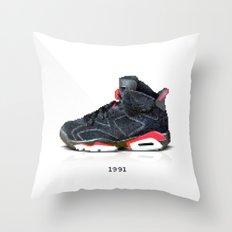 Pixel Jordan Throw Pillow