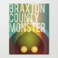 Braxton County Monster Canvas Print