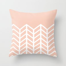 LACE CHEVRON (PEACH) Throw Pillow