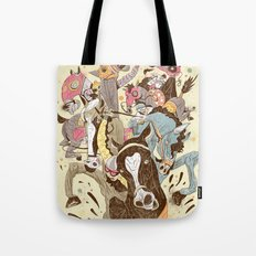 The Great Horse Race! Tote Bag