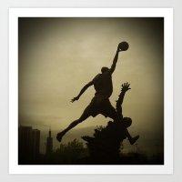 Michael Jordan Statue Chicago Art Print