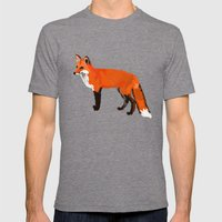 FOX: THE RED BANDIT Mens Fitted Tee Tri-Grey SMALL