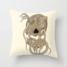 Dead Living by Tree Throw Pillow