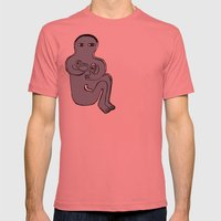 Happily Mens Fitted Tee Pomegranate SMALL