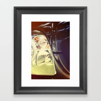 Vintage Car Photo Framed Art Print