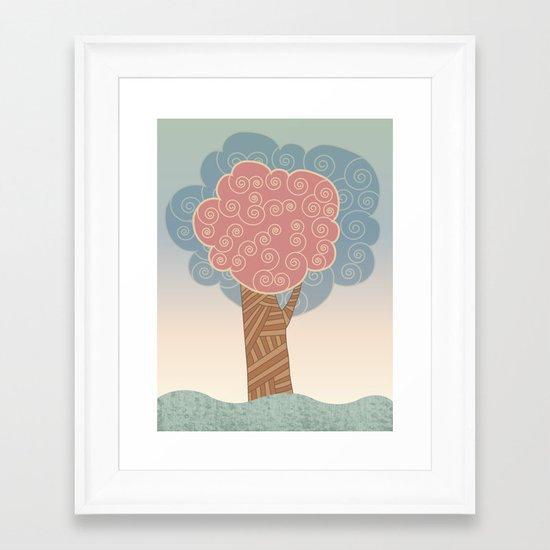 Tree Swirl Framed Art Print
